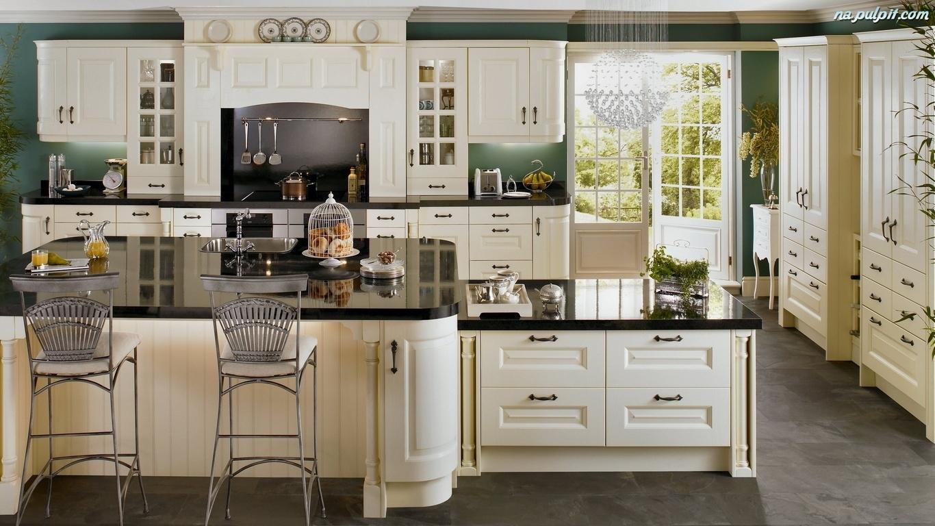 Nowoczesność, Kuchnia, Biel Na Pulpit -> Tapeta Samoprzylepna Kuchnia